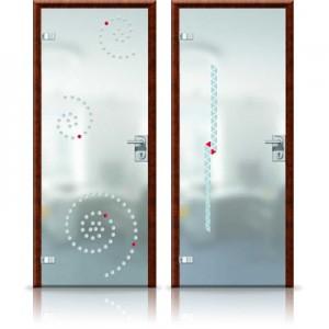 двери распашные стеклянные