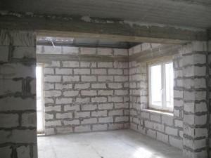 отделка стен из газобетонных блоков